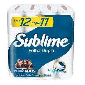 Papel Higienico Sublime Folha Dupla 30M Lv12 Pg11 - 8X12un 8X12un